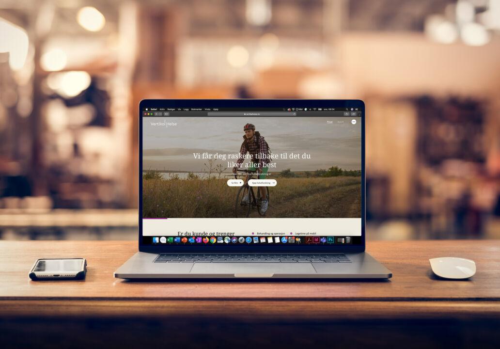 Vertikal Helse 593028245 laptop 2 nye nettsider