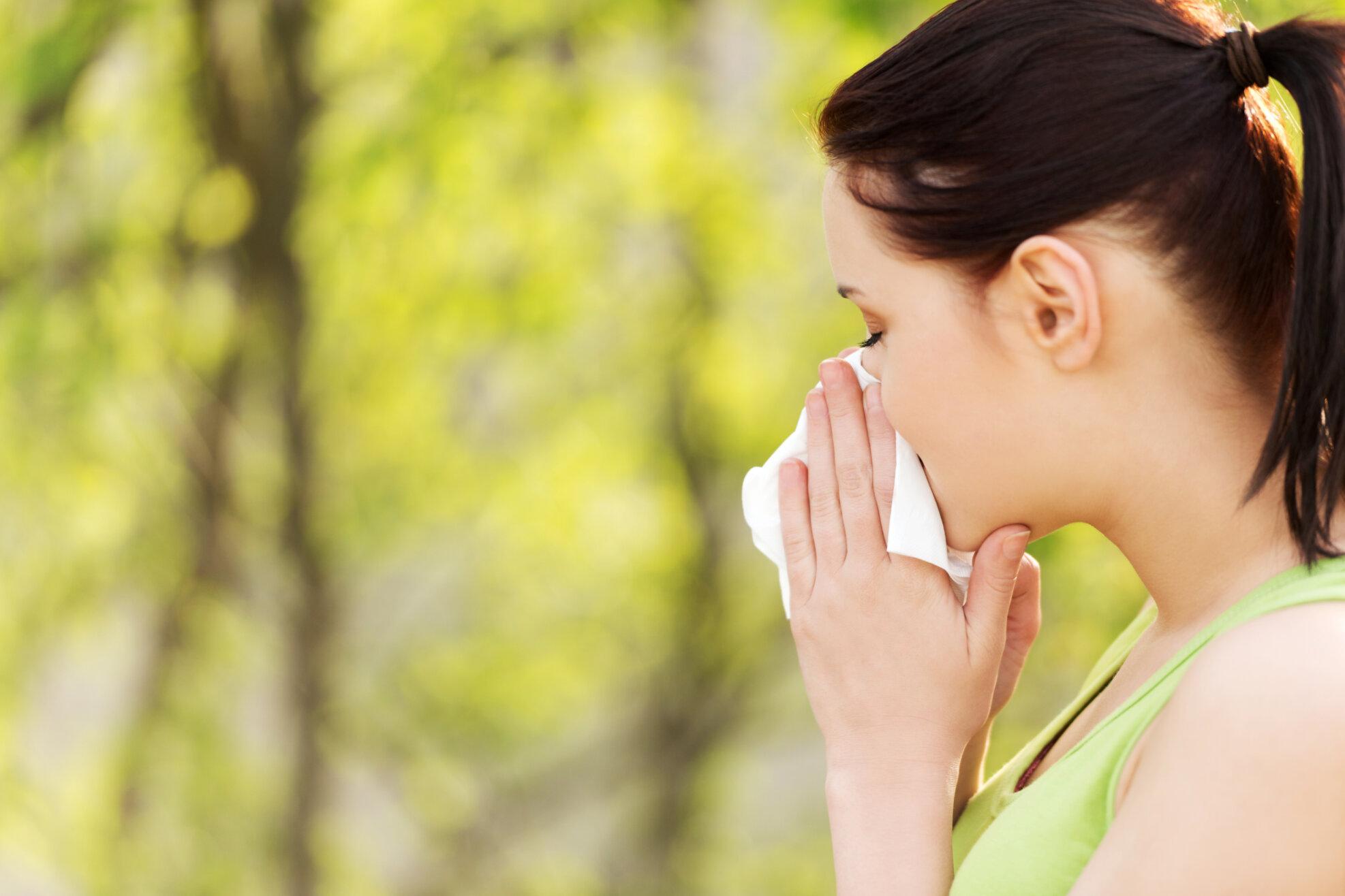 Vertikal-Helse-pollenallergi