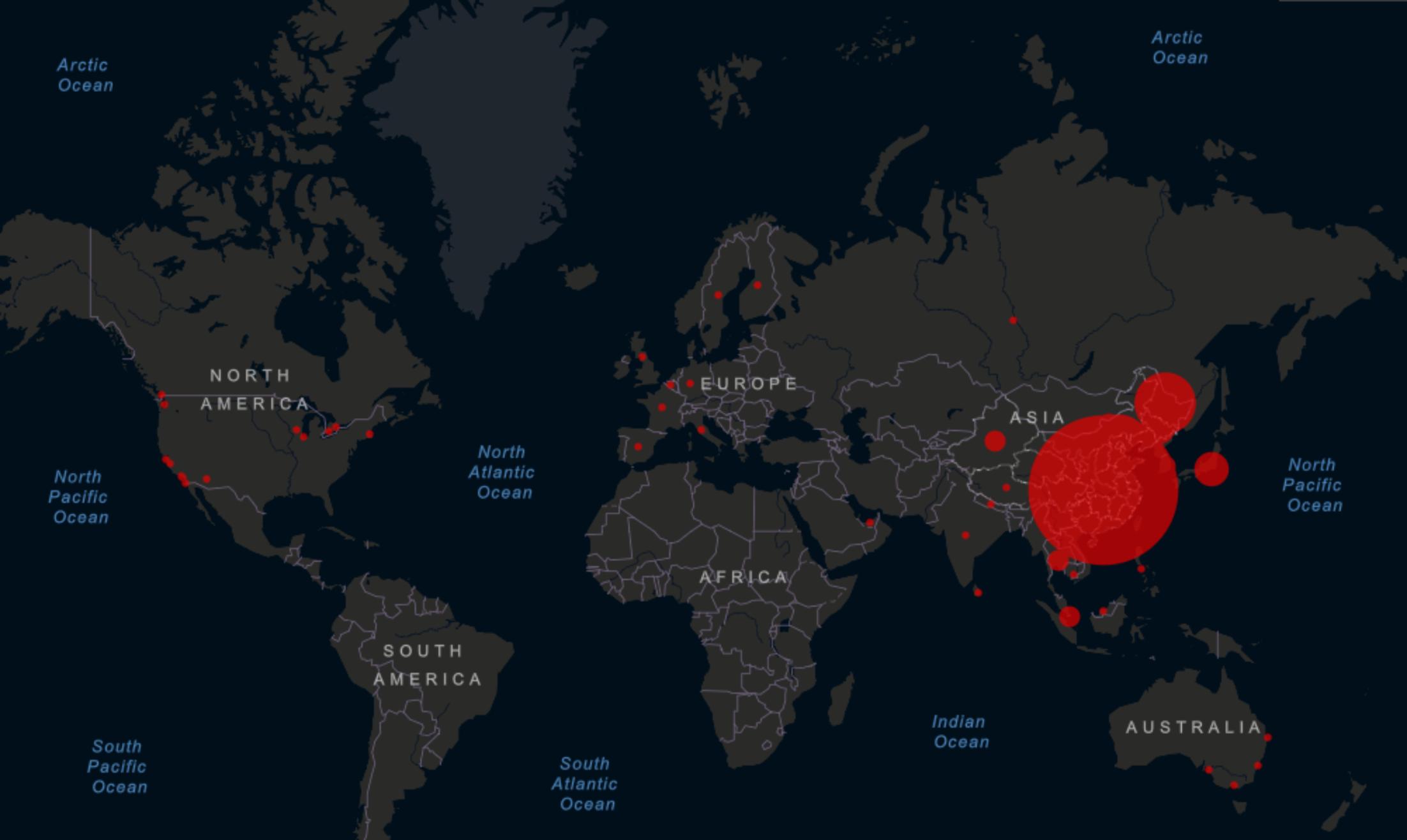 Kart koronavirus covid19