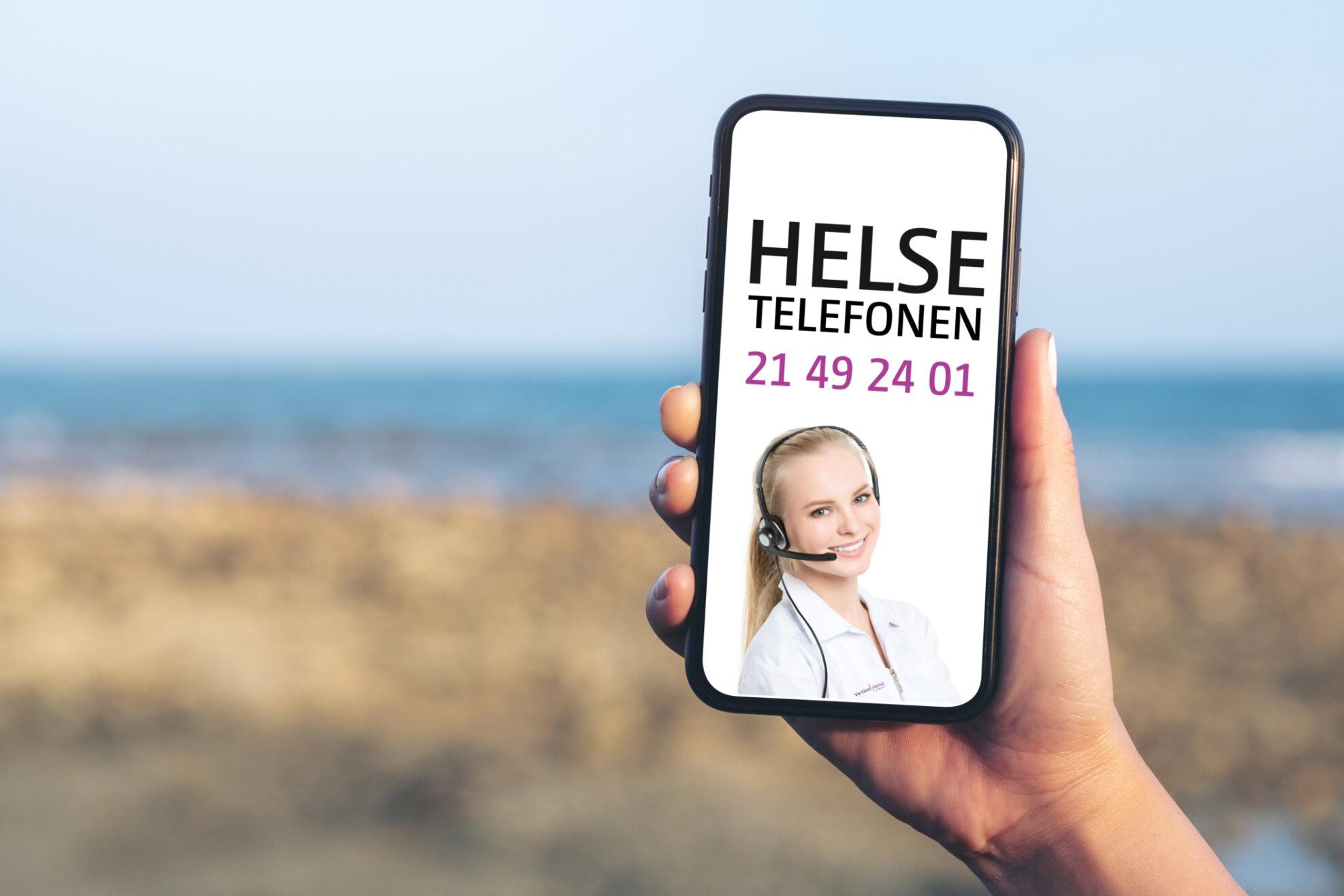 Vertikal Helse Helsetelefonen strand